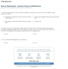 print inertial frame of reference definition exle worksheet