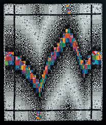 Black and White Quilt Ideas: Add a Pop of Color & Black and White Bargello Quilt Adamdwight.com