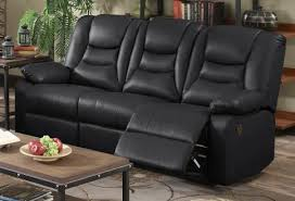 kirk bonded leather 3 seater recliner