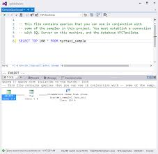 sql server integration middot r tools for visual studio sql window execution query plan