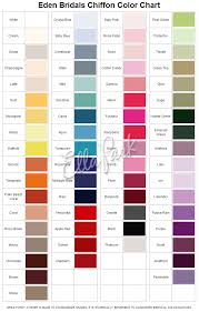 Impression Bridal Color Chart Bridesmaid Dress Colors Chart Fashion Dresses