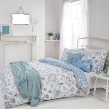 eliza blue fl luxury reversible easy care duvet set