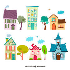 Houses Cartoons Vector Free Download