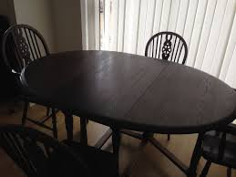 drop leaf dining table and 6 chairs. vintage style drop leaf dining table and 6 chairs (dark wood) i