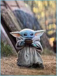 Bebe Yoda Bebiendo Sopa - Yoda Fondo De ...