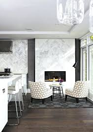 white stacked stone fireplace surround bower power