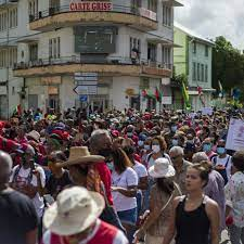 Thousands protest in Martinique against ...