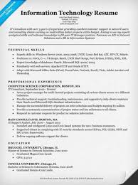 Information Technology Resume Examples Unique Information Technology Interesting Information Technology Resume