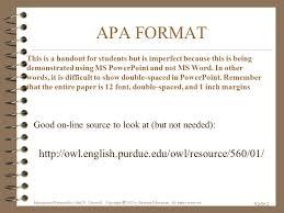 Apa Format Presentation Ppt Video Online Download