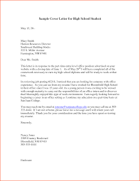 school cover letter cover letter for high school student denial sample motivation