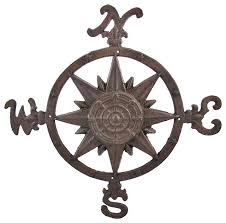 astonishing compass rose wall art cast iron accent indoor outdoor use large metal on cast iron outdoor wall art with astonishing compass rose wall art cast iron accent indoor outdoor