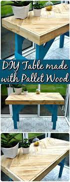 wood pallet furniture diy. Repurposed Pallet Table Wood Furniture Diy
