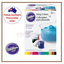 Wilton Icing Colours 12 Set Cake Decorating Supplies Food Colouring