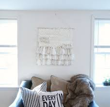 diy yarn wall hanging easy wall art hanging you can do yourself