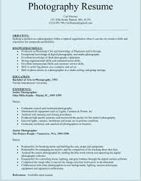 photographer resume sample