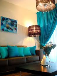 Bedroom  Large Living Room With Aqua Wall Design Bedroom Color Home Decor Turquoise And Brown