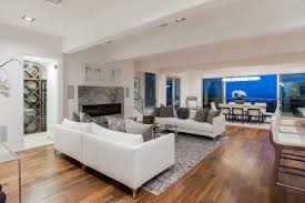... on a 12,244-square-foot double lot in Hollywood Hills West, the  newly-renovated, modern home, boasting panoramic views of the city, in the Bird  Streets.
