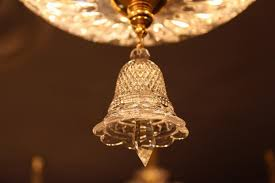 description small clear bell crystal hanging drop baccarat style chandelier glass crystal