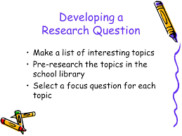 elementary performance assessment ppt  3 developing a research question make a list of interesting topics