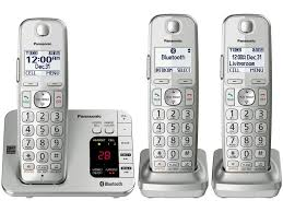 Panasonic Cordless Phone Compatibility Chart Link2cell Bluetooth Cordless Phone 3 Handsets Kx Tge463s