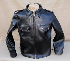 1960s horsehide leather police highway patrol motorcycle jacket