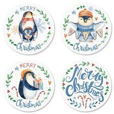 Christmas Envelope Seals | Colorful Images