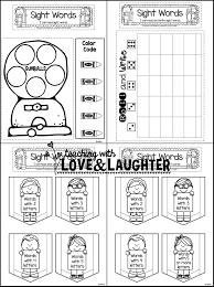 preview5 teaching with love and laughter fry word interactive notebooks on kindergarten sight word test template