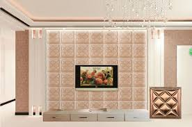 factory pvc leather 3d decorative wall panel