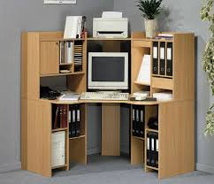 modular desks home office inspiring modern corner brown wooden computer desk designed with shelves combine