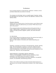 Startup Business Plan Sample Startup Business Plan Template 1