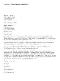 Experienced Teacher Cover Letters Sample Cover Letter For School Keralapscgov