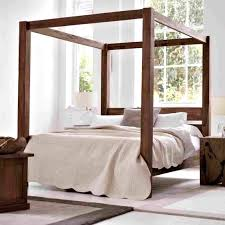 Post Bed Frame Er Canopy Curtains Images Decoration Ideas With Four ...
