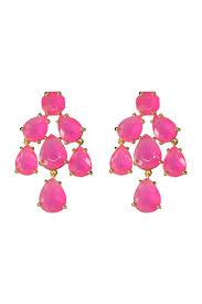 hot pink kate chandelier earrings by kate spade new york accessories