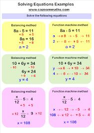 solving linear equations worksheets pdf equation math and algebra exponents solving examples da d e ab