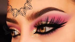 arabic stan wedding makeup tutorial golden marsala purple