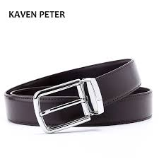<b>Men's Formal Leather Belt</b> Waist Metal Pin Buckle With Clip Belts ...
