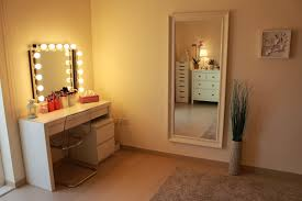 bedroom bedroom vanity table with lights black makeup dressing lighted mirror for white attractive decorative