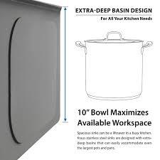 30 Inch Deep Kitchen Cabinets Kraus Khf200 30 30 Inch Farmhouse Apron Single Bowl 16 Gauge