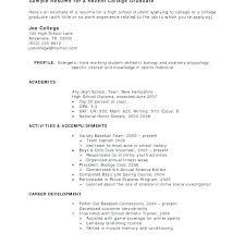 Sample College Freshman Resume No Work Experience Resume Sample Resume Job Experience Examples How