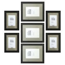 picture frame set with mat of 7 black photo white collage