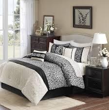 com madison park dover 7 piece comforter set king black home kitchen