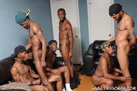 Gay thug orgy one bottom