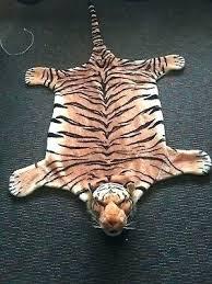 fake tiger rug tiger rug fake real skin with head tiger rug fake white tiger rug