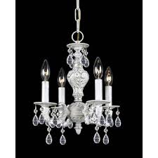 crystorama lighting group hampton antique white ornate mini chandelier dd with clear hand cut crystal
