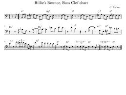 Bass Clef Chart C Parker Billies Bounce Bass Clef Chart Download