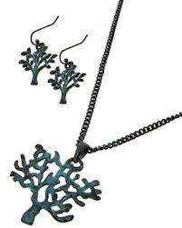 patina lead nickel pliant metal fish hook earrings tree pendant