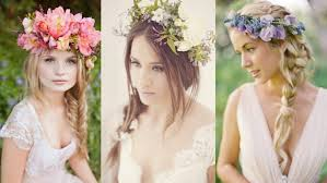 Braided Wedding Hairstyles With Flowers Youtube