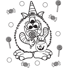 Small Picture Halloween Candy Coloring Pages GetColoringPagescom
