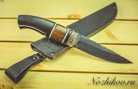 <b>Нож Финский</b>, <b>сталь K340</b>, рукоять граб, вставка из карельской ...