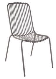 silene metal chair grey 5052931123568